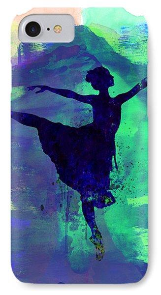 Ballerina's Dance Watercolor 2 IPhone Case by Naxart Studio