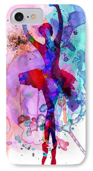 Ballerina's Dance Watercolor 3 IPhone Case by Naxart Studio