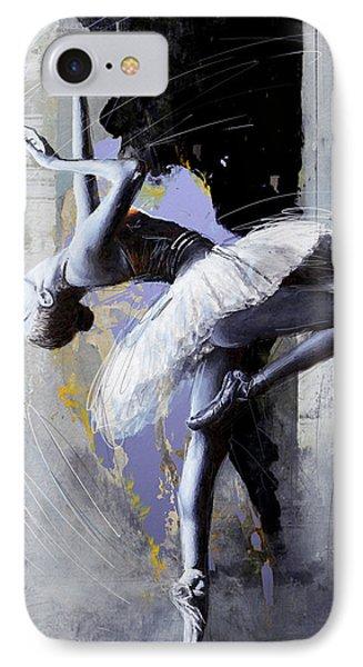 Ballet Dancer 16 IPhone Case by Mahnoor Shah