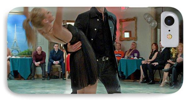 Ballroom Dancers Phone Case by Valerie Garner