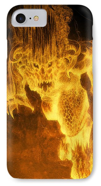 Balrog Of Morgoth IPhone Case by Curtiss Shaffer