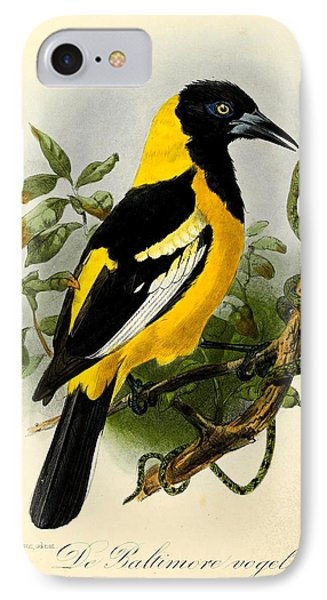 Baltimore Oriole IPhone 7 Case by J G Keulemans