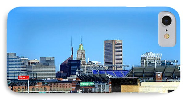 Baltimore Stadiums Phone Case by Olivier Le Queinec