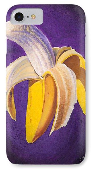 Banana Half Peeled IPhone 7 Case by Karl Melton