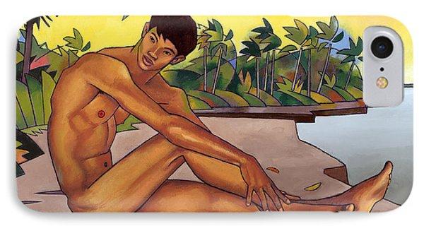 Banks Of The Mekong IPhone Case by Douglas Simonson