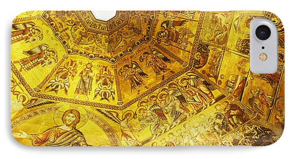 Baptistery Mosaic Ceiling, Battistero IPhone Case by Panoramic Images