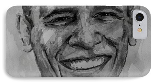 Barack In Bw IPhone Case by Laur Iduc
