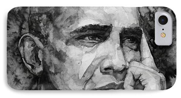 Barack Obama IPhone Case by Laur Iduc