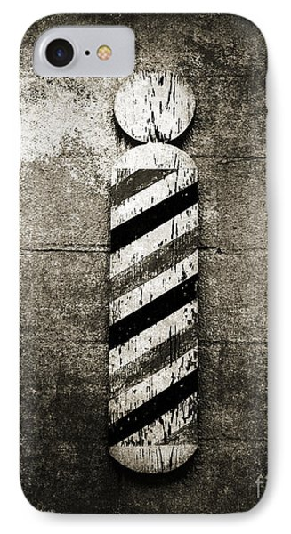 Barber Pole Black And White Phone Case by Andee Design