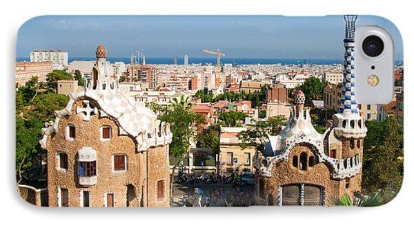 Barcelona Park Guell Antoni Gaudi Phone Case by Matthias Hauser