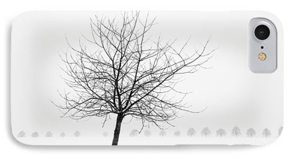 Bare Tree In Winter - Wonderful Black And White Snow Scenery Phone Case by Matthias Hauser