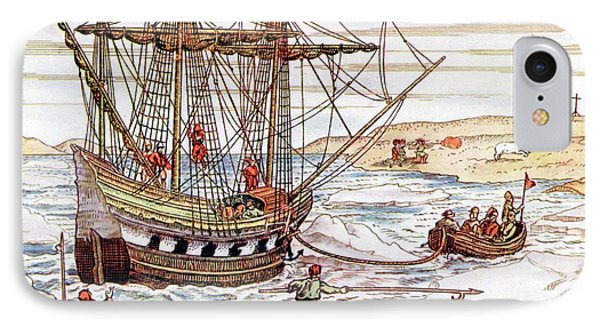 Barents' Ship Among The Arctic Ice IPhone Case by Universal History Archive/uig