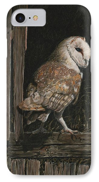 Barn Owl In The Old Barn Phone Case by Rob Dreyer AFC