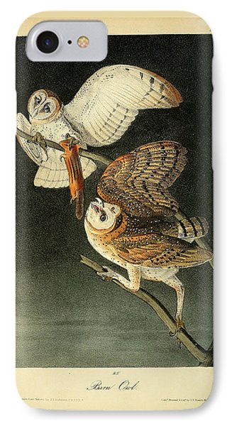 Barn Owls IPhone Case by Philip Ralley