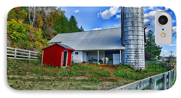 Barn - The Old Horse IPhone Case by Paul Ward