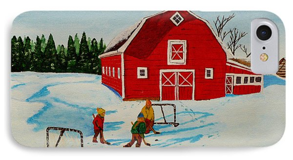 Barn Yard Hockey Phone Case by Anthony Dunphy