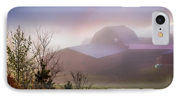 Barns In The Morning Light Phone Case by Debra and Dave Vanderlaan