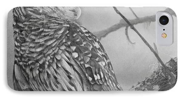 Barred Owl IPhone Case by Tim Dangaran