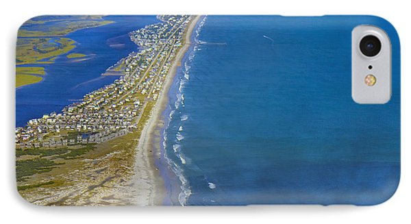 Barrier Island Aerial IPhone Case by Betsy Knapp