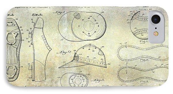 Baseball Patent Panoramic IPhone Case by Jon Neidert