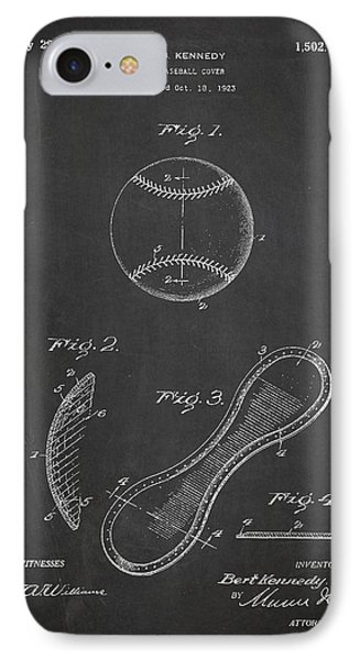 Baseball Cover Patent Drawing From 1923 IPhone 7 Case by Aged Pixel