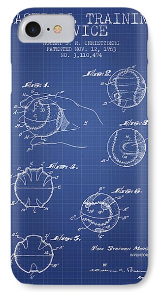 Baseball Cover Patent From 1963- Blueprint IPhone 7 Case by Aged Pixel