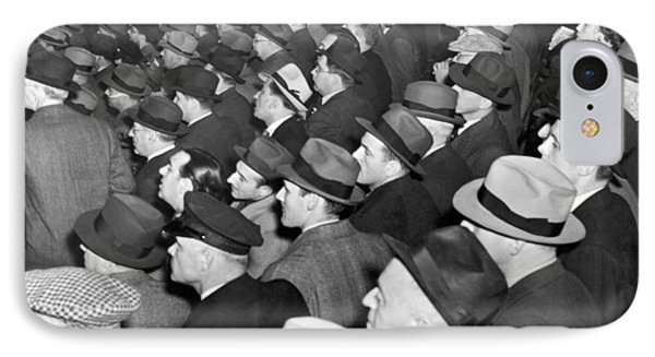 Baseball Fans At Yankee Stadium For The Third Game Of The World IPhone Case by Underwood Archives