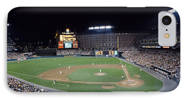 Baseball Game Camden Yards Baltimore Md IPhone Case by Panoramic Images