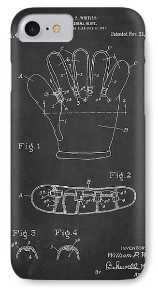 Baseball Glove Patent Drawing From 1922 IPhone 7 Case by Aged Pixel