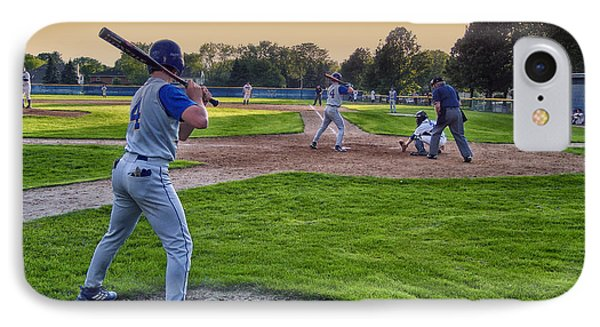 Baseball On Deck Circle Phone Case by Thomas Woolworth