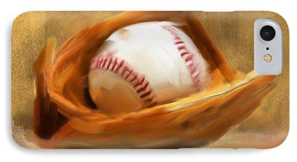 Baseball V IPhone Case by Lourry Legarde