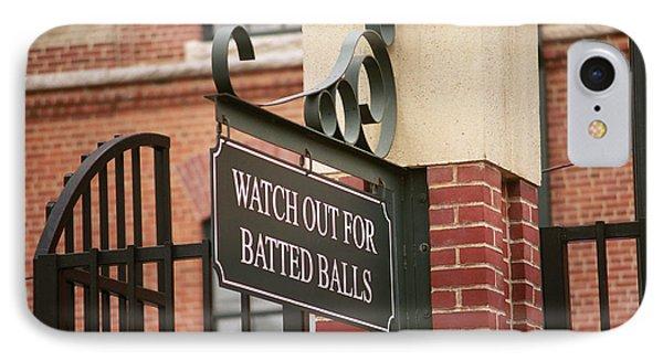 Baseball Warning IPhone Case by Frank Romeo