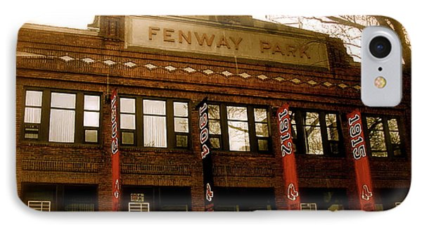Baseballs Classic  V Bostons Fenway Park IPhone Case by Iconic Images Art Gallery David Pucciarelli