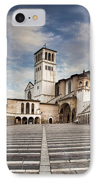 Basillica Of St Francis Of Assisi In Italy IPhone Case by Susan Schmitz