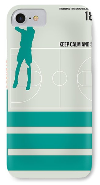Basketball Poster IPhone 7 Case by Naxart Studio