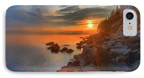 Bass Harbor Sunset Phone Case by Adam Jewell