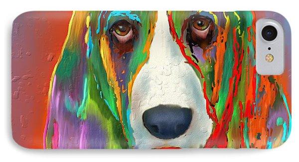 Basset Hound IPhone Case by Marlene Watson
