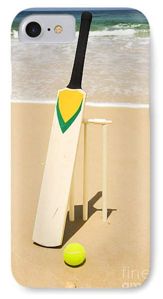 Bat Ball And Stumps IPhone 7 Case by Jorgo Photography - Wall Art Gallery