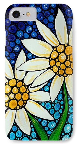 Bathing Beauties - Daisy Art By Sharon Cummings IPhone 7 Case by Sharon Cummings