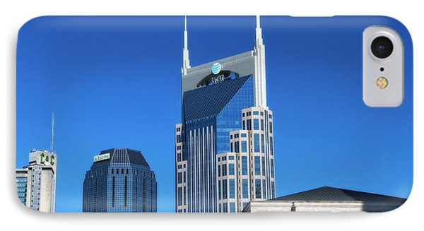 Batman Building And Nashville Skyline IPhone 7 Case by Dan Sproul