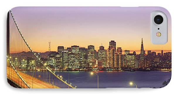 Bay Bridge At Night, San Francisco IPhone Case by Panoramic Images