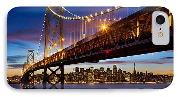 Bay Bridge IPhone Case by Inge Johnsson