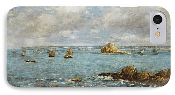 Bay Of Douarnenez IPhone Case by Eugene Louis Boudin