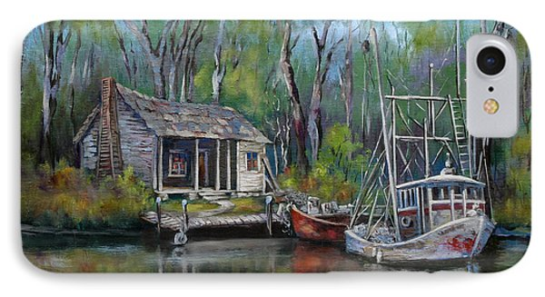 Bayou Shrimper IPhone Case by Dianne Parks