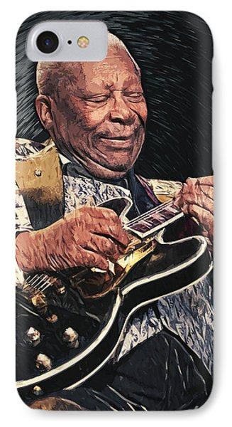 B.b. King II IPhone 7 Case by Taylan Soyturk