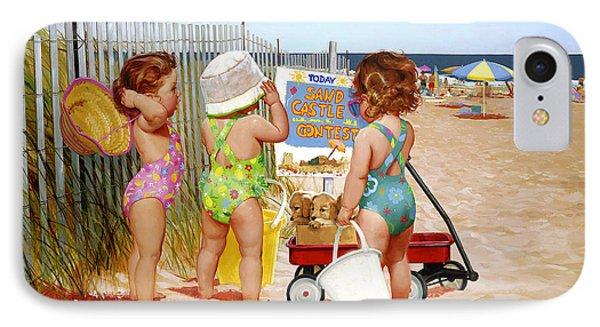 Beach Babies IPhone Case by Donald Zolan