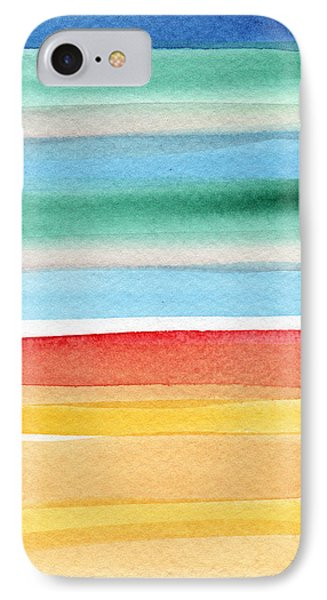 Beach Blanket- Colorful Abstract Painting IPhone Case by Linda Woods