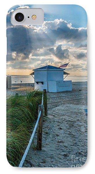 Beach Entrance To Old Glory IPhone Case by Ian Monk