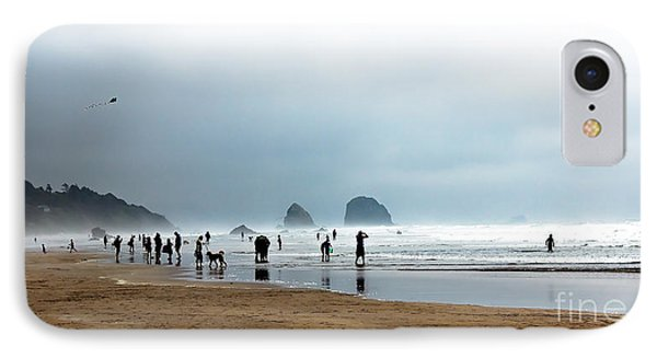 Beach Fun At Ecola  Phone Case by Robert Bales