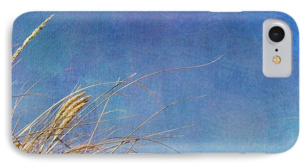 Beach Grass In The Wind Phone Case by Michelle Calkins
